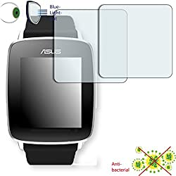 2 x DISAGU ClearScreen screen protection film for Asus VivoWatch antibacterial, BlueLight filter protective film (intentionally smaller than the display due to its curved surface)