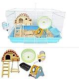 AA-hamster cage CSWO Gabbia per criceti della cavia Dormire, Esercizio, Giocattolo Dreamy Big Castle Oversize Set Mouse Villa Transparent