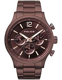 Police Reloj Multiesfera para Hombre de Cuarzo con Correa en Acero Inoxidable PL.15302JSBN/