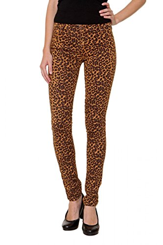 Fiveunits 5Units Damen Jeans Skinny Skinny Jeans PENELOPE, Farbe: Leopard, Größe: 31 (Flare Herz Jeans)