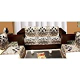 #9: Zesture Bring Home 6 Piece  Cotton Sofa and Chair Cover Set - Multicolour