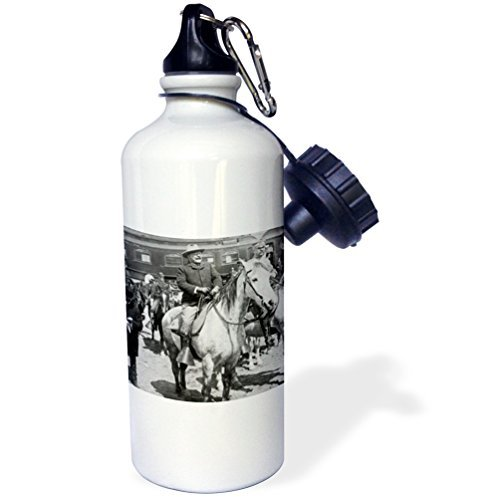 Sports Water Bottle Gift for Kids Girl Boy, President Teddy Roosevelt On Horseback In Yellowstone National Park 1903 Stainless Steel Water Bottle for School Office Travel 21oz (Roosevelt, Kinder Teddy)
