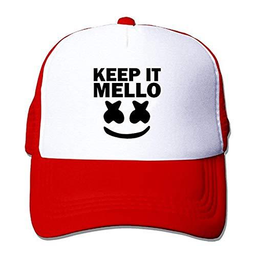 deyhfef Adult Marshmello Keep It Mello Baseball Hat Mesh Trucker Vintage Unisex Cap Unisex37 Fußball Mesh Trucker Hat-cap