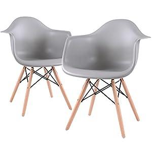 EGGREE, Esszimmerstuhl mit Beinen aus massivem Metall, modernes Design für maximalen Komfort