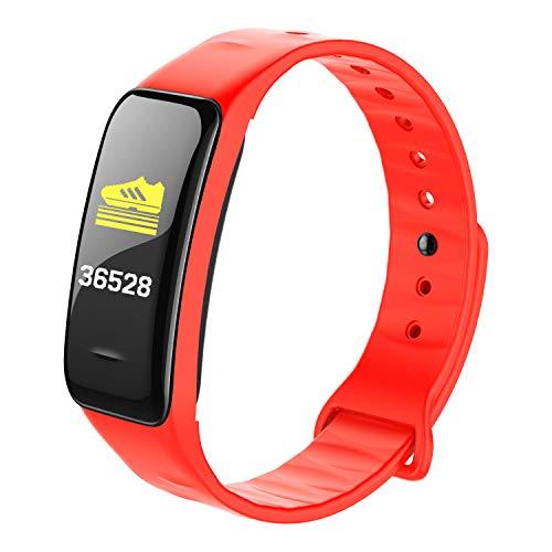 GYFY Smart Bracelet Blutdruck Herzfrequenz Herzfrequenz Blut Sauerstoff Bluetooth Sport Steps Gesundheitsgeschenk Armband,Red