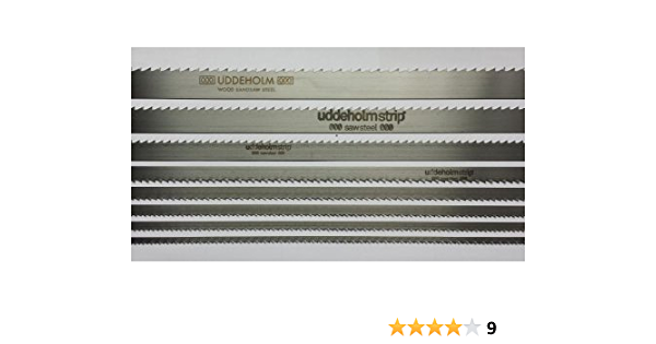 Bands/ägeblatt Uddeholm Schwedenstahl 1070mm-2500mm x 6mm x 0,4mm 6ZpZ 2050mm x 0,4mm 6ZpZ
