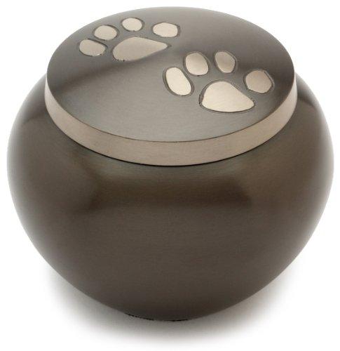 Urns UK Mascota de cremación urna Chertsey Negro Peltre 5'Gran