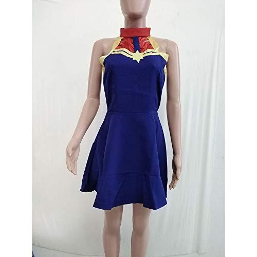ASJUNQ Überraschung Kapitän ärmelloses Trägerloses Kleid Cosplay Party Requisiten Overall,Blue-S (Bewertung 3d Halloween Film)