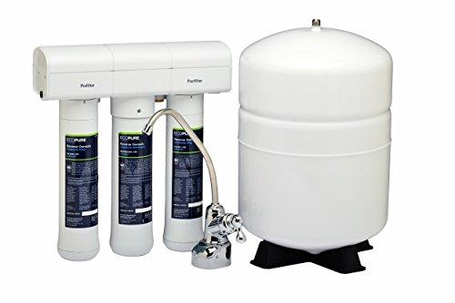 Ecopure Ro sistema de filtrado del agua potable ósmosis inversa, color blanco