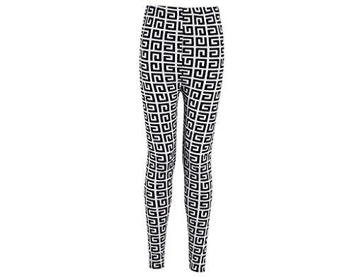 Adelina Damen Gothic Punk Schwarz Hipster Leggings Black Milk Rockabilly Tattoo Fashionable Completi Leggins Hose Lang Blickdicht (Color : 25756, Size : One Size)