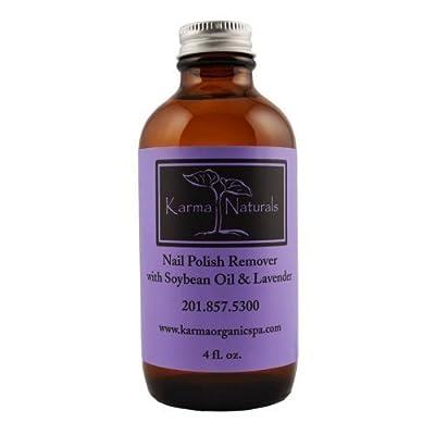 Organic Lavender Nail Polish Remover 4 fl. oz by Karma Organic Spa