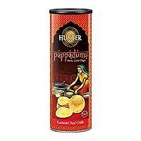 Hunter Pappadums Petite Lentil Chip Kashmiri Red Chilli - 120gm