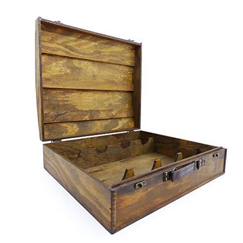 Weinbox aus Holz im 'Celtic' Stil für 4 Flaschen - Ideale Verpackung für Weinflaschen Geschenke -