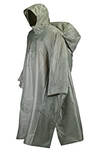 Trekmates Deluxe PAK Poncho Fully Waterproof - Olive   Olive