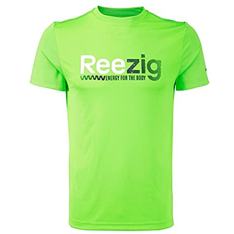 Reebok Mens ZigTech PlayDry Running T-Shirt - Green - Large