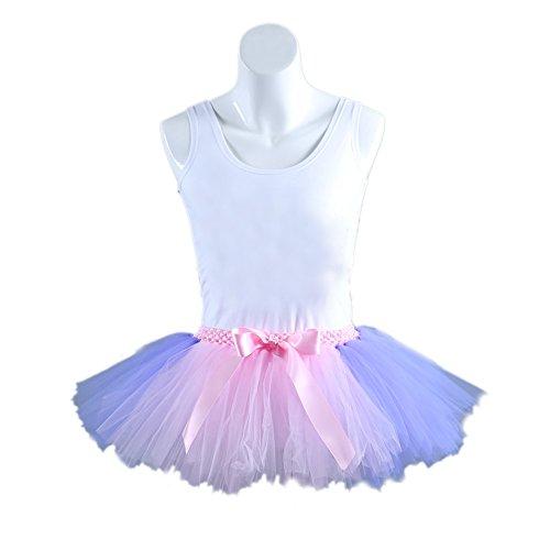 Honeystore Damen's Kurz Retro Petticoat Rock Ballett Blase 50er Tutu Unterrock Tütü Abschlussball Tanzkleid Party Minirock Tüllrock One Size Rosa und (Diy Twin Kostüme)