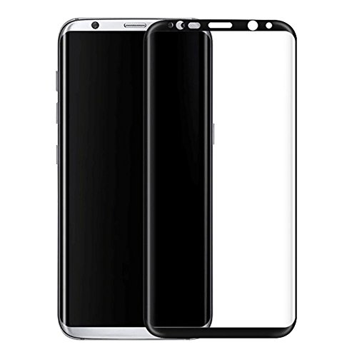 Galaxy S8 Tempered Glass, CASECART [3D Full Coverage] [Edge to Edge] Curved Tempered Glass Screen Protector for Samsung Galaxy S8 – Black BY GOLD LAMP INTERNATIONAL