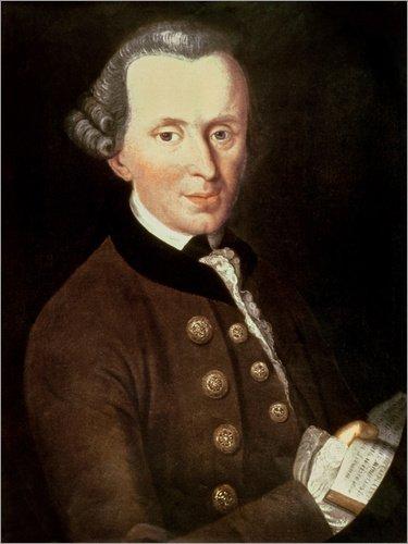 Poster 90 x 120 cm: Immanuel Kant von German School/Bridgeman Images - hochwertiger Kunstdruck, neues ()
