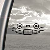 TOTORO Totoro (Ghibli Laputa Jdm FenstersSticker, Schwarz, Motiv Anime-Design Window Sticker