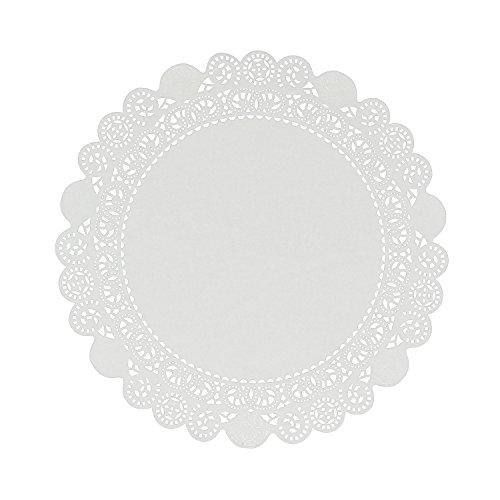 Royal 30 cm Einweg-Zierdeckchen mit Spitzenborte aus Papier, Packungsinhalt: - Papier 60 Lb