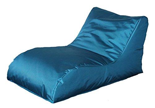 Quantum Interior Sitzsack mit Lehne, Relax Lounge, ca.70x60x125cm, (Türkis)