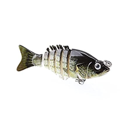 A-szcxtop 5cm 2,5g Multi jointé Leurres de pêche dur appâts réaliste 6segments Swimbait Bass Poissons-nateurs Perche Pike Doré Jaune truite Pêche appâts, Type 4