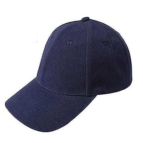 Rawdah Unisex Baseball Cap Adjustable Hat Solid Color (Navy)