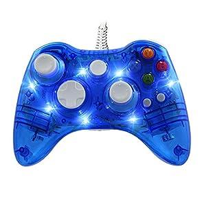 Wired Gamepad für Xbox 360,WeJoy PC Controller mit DualShock und 7 LED für XBOX 360/PC/Windows XP/7/8/8.1/10/Vista…