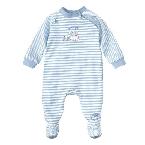 BORNINO Schlafoverall Baby-Nachtwäsche Baby-Schlafanzug, Größe 86/92, hellblau