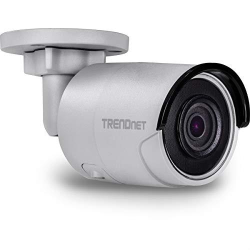 TRENDnet Indoor/ Outdoor 8MP 4K H.265 WDR PoE Bullet Netzwerk Kamera, Nachtsicht bis zu 30 M (98 ft.), Schutzklasse IP67, 120dB WDR, MicroSD Kartenslot, TV-IP318PI (Wlan, Webcam, Tv)