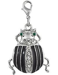 ENT Joya escarabajo negro con brillo - art. EL28085 - Lon. 4,5 cm - Anc. 2,5 cm - Alt. 0,5 cm - Ten by Varotto & Co.