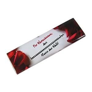 private schoki Schokolade für Ihren Mann zum Valentinstag mit Wunschname 300g