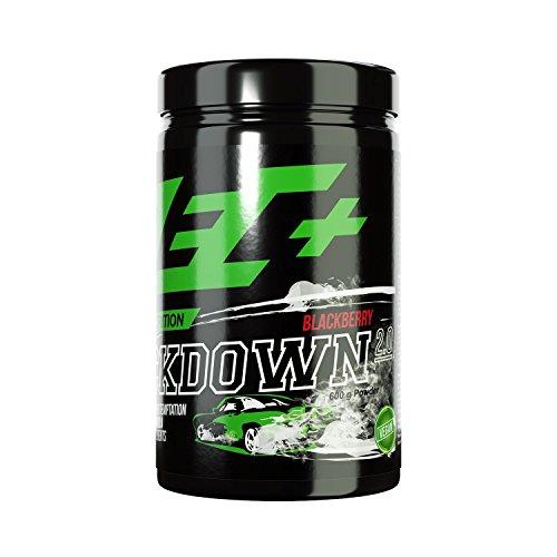 ZEC+ Kickdown 2.0 Pre-Workout Booster, Trainingsbooster mit Aminosäuren (BCAAs), Arginin AKG, Creatinol-O-Phosphat, Betain, Citrullin-Malat & Ginseng Extrakt, 600 g, Geschmack Black Berry