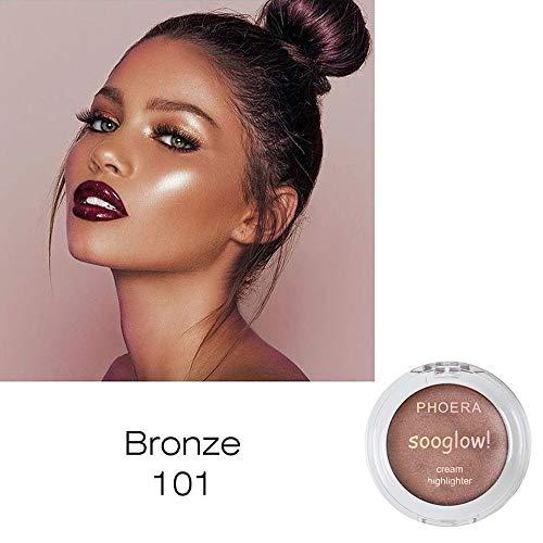 Yazidan Highlighter und Lidschatten Blush Palette Make Up Shimmer Creme Gesicht Highlight Lidschatten Glow Bronzer Eyeshadows Flawless Palette