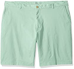IZOD Mens Big and Tall Saltwater Stretch Chino Short, Mist Green, 46