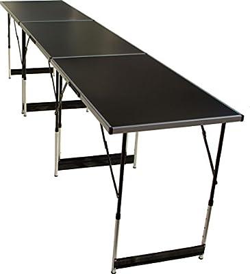 Beach & Pool Mehrzwecktisch Stahl 3 teilig faltbar Tapeziertisch Klapptisch Flohmarkttisch Partytisch