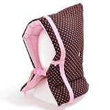 Made in Japan N4422200 (rosa Punkte auf Schokolade Masse) Katastrophenhilfe Kinder Haube (Stuhl mit dem Gummi fest) Polka Dot in Vorbereitung (Japan-Import)
