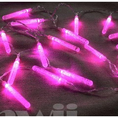 El LED de la batería burbujas de espuma de 7 cm de las columnas de hielo Carnaval navidad luces de cadena boda decoraciones festivas luz,rosa,1 M 10 Lámpara