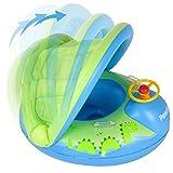 Peradix Baby Schwimmring Aufblasbares Schwimmen Ring Kinderboot Beach Sommer Hingucker für Wasserspaß Familienspaß in See Meer - Schwimmbad umweltfreundlich PVC,Mehrweg (Grün)