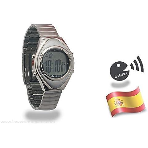 Reloj Parlante Oval en Metal - Español -