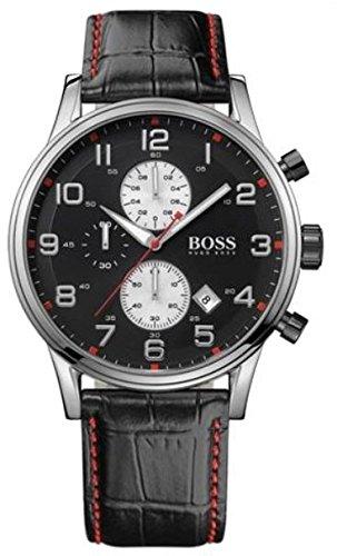 New Hugo Boss Men's Watch 1512631Analog Leather Strap Quartz Movement