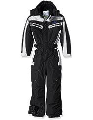 Peak Mountain Etel – Traje de esquí para niño, traje, color negro, tamaño 10 años