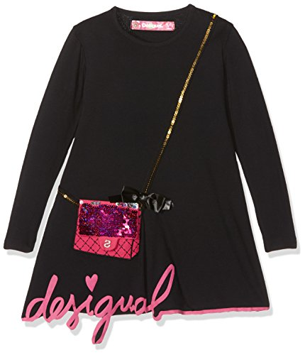 Desigual Vest_Sydney Robe, Noir (Negro 2000), 128 (Taille Fabricant: 7/8) Fille