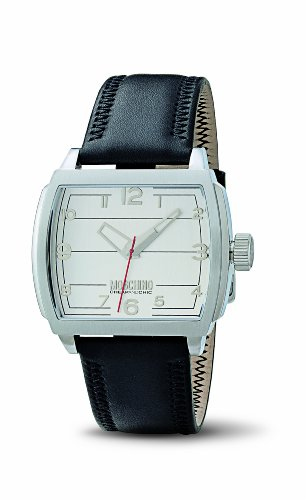 Moschino - MW0114 - Montre Homme - Quartz - Analogique - Bracelet Cuir Noir