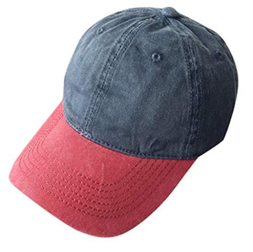 Syeytx Männer Frauen Baseball Caps Mode Einstellbare Baumwolle Farbabstimmung Gebogene Kappe Stern Strass Kappe -