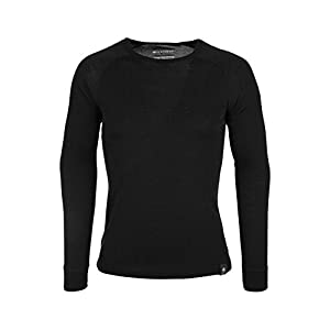 Mountain Warehouse Merino Langarm Baselayer-Thermotop für Herren – Leichtes T-Shirt, warm, antibakteriell, schnelltrocknend – Ideal bei kaltem Wetter Winter Baselayer