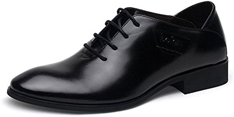 Negocios de hombres zapatos casuales hombres Zapatos Casual Shoes Fashion Business grueso Brogue,Black,Cuarenta  -