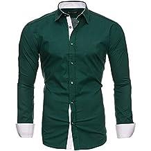new york 15952 5e4ad Amazon.it: camicia uomo - Verde