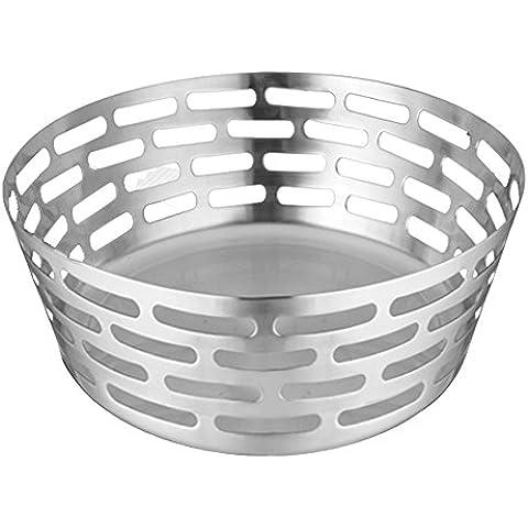 Venus/32496 bb Francia, la cesta para el pan grande diseño acero inoxidable 20 x 8,5 cm