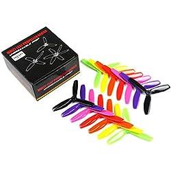 Laurelmartina 7 Pares Kingkong / LDARC 5X4.5X3 5045 5 Pulgadas 3-Blade Rainbow Colorful Hélice CW CCW para RC Drone FPV Racing Repuestos